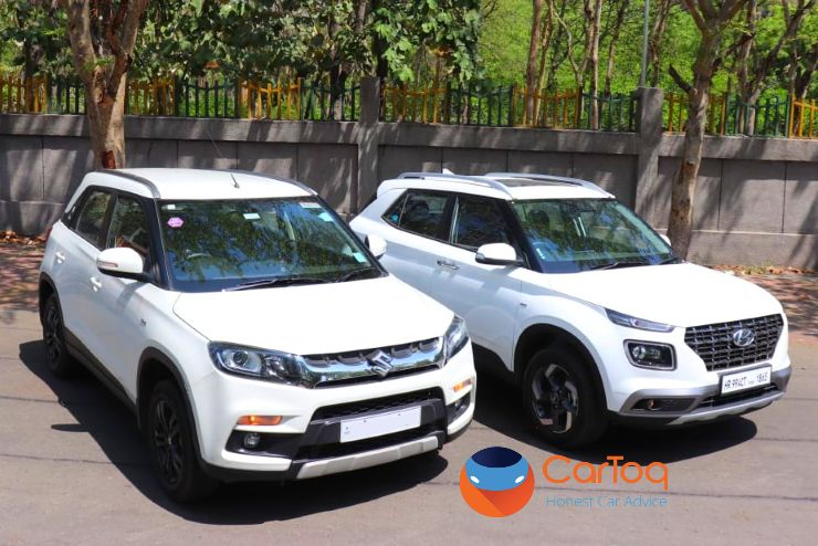 Exclusive Hyundai Venue Spotted Next To A Maruti Brezza For The