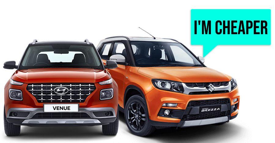 Hyundai Venue Maruti Brezza Featured