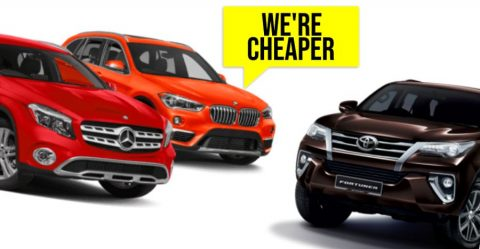 Mercedes Bmw Fortuner Cheaper Featured