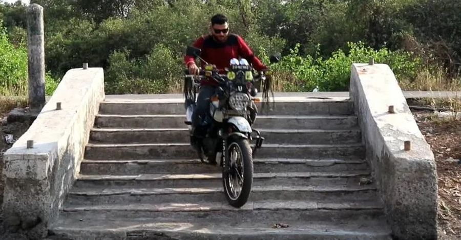 Royal Enfield Himalayan Stairs Featured