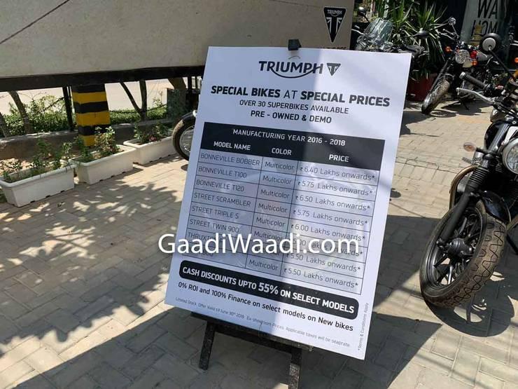 Triumph Discount India