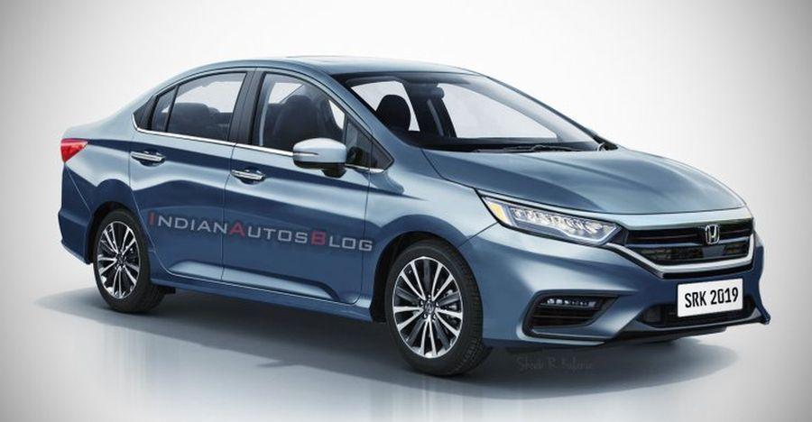 2020 Honda City sedan rendered ahead of launch next year