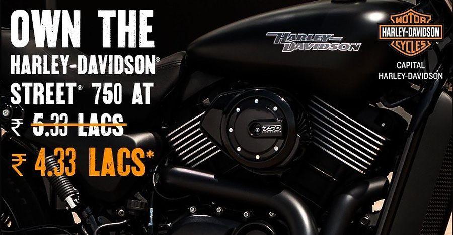 Harley Davidson Street 750 gets a MASSIVE Rs. 1 lakh discount: Royal Enfield Interceptor effect?