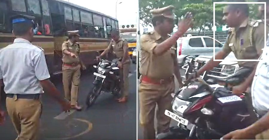 Chennai Cop Busted Featured