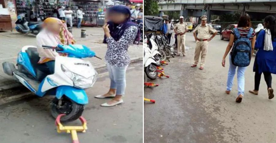 Pune girls release Honda Dio automatic scooter from 'Jammer' and escape from paying fine: Cops hunt them down!