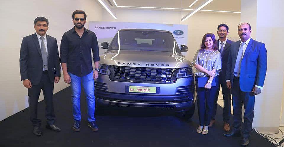 Malayalam movie star Prithviraj's latest ride is a Range Rover Vogue