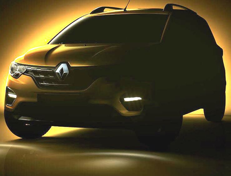 Renault Triber front design revealed, inspired by Captur – Gets LED DRL