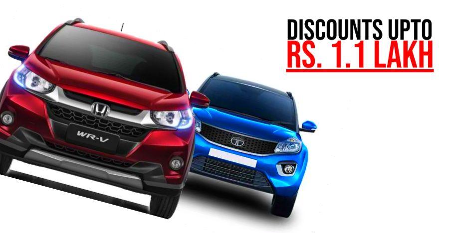Tata and Honda cars selling at BIG discounts in June 2019: Honda WR-V to Tata Hexa