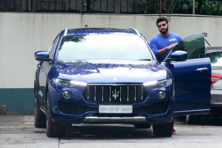 Arjun Kapoor With Maserati Levante
