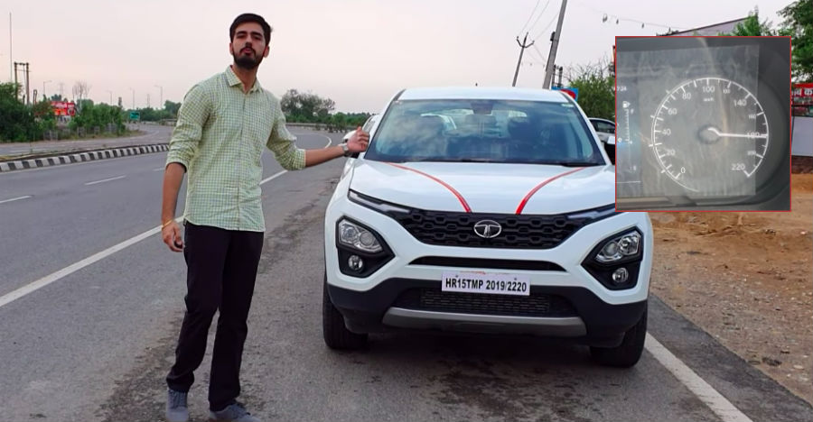Tata Harrier top-speed tested: Doing 180 km/h on video