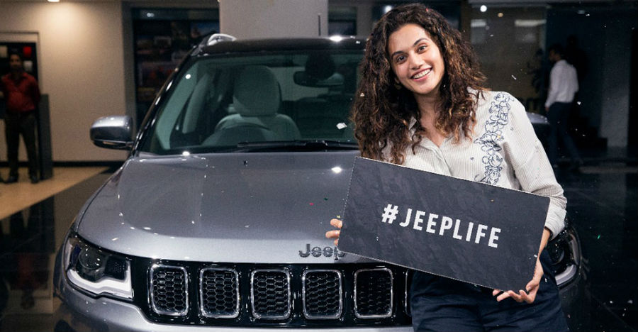 Taapsee Pannu becomes proud owner of a Jeep Compass