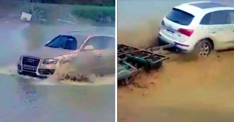 Audi Q5 luxury SUV working as a tractor in India: Caught on video