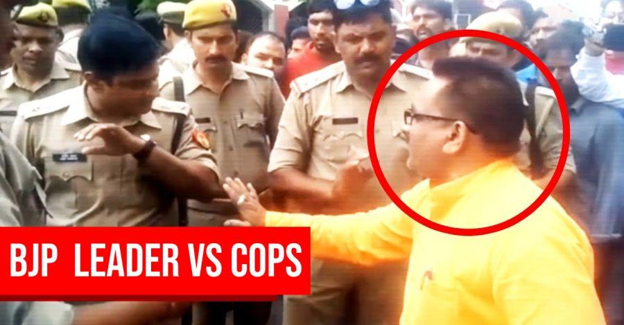 Bjp Leader Cops Featured