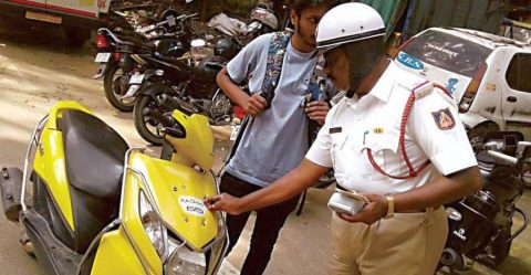 Faulty Registration Plate India