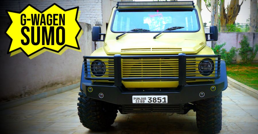 This Mercedes G-Wagen inspired Tata Sumo 4×4 is what we want real bad