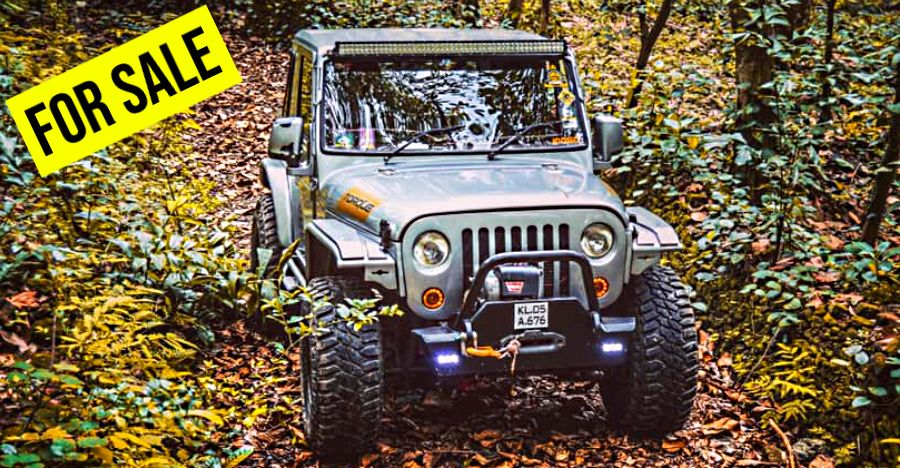 This off-road beast is a heavily modified Mahindra MM 540 and it's up for sale