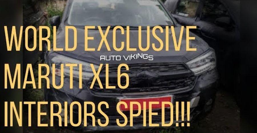 Maruti Suzuki XL6's (Ertiga Crossover) interiors spied