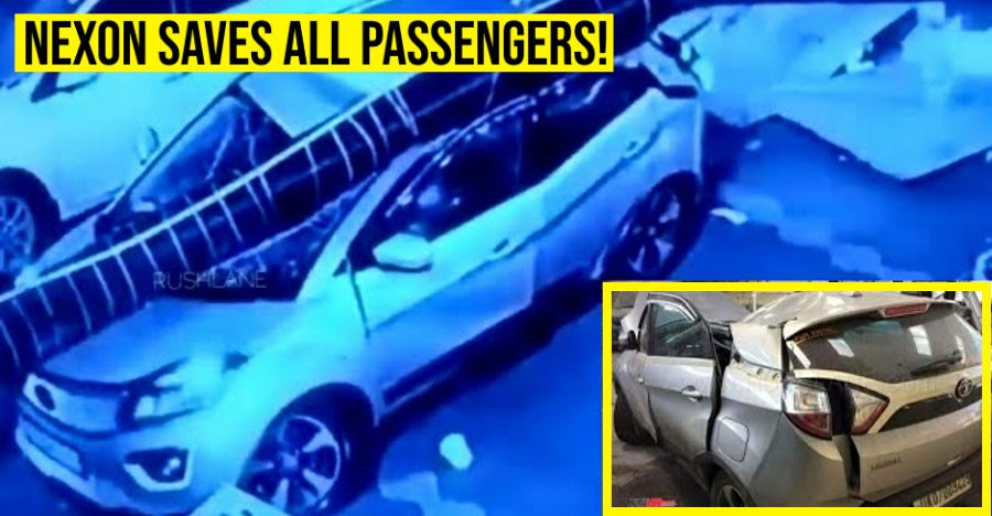 Nexon saves passengers after a huge hoarding falls on it: Tata Motors makes safety ad on it [Video]