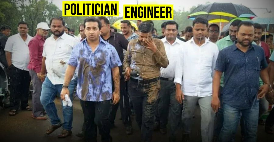 Politician-led mob dumps mud on civic engineer for failing to fix poor roads: Caught on video