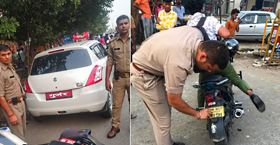 Noida Police BUSTS 1,457 vehicles for faulty number plates, other offences: 8 ARRESTED