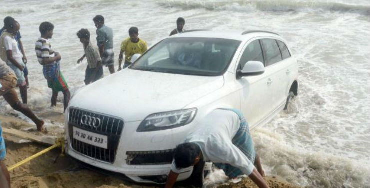 Audi Stuck In Water