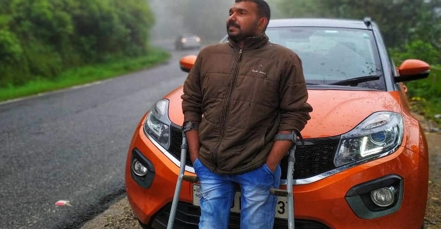 Specially abled car enthusiast overcomes challenges to drive the Tata Nexon