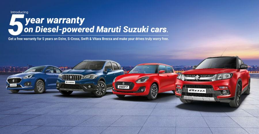 Maruti Suzuki Swift, Dzire, Vitara Brezza & S-Cross Diesels now get 5 year warranty
