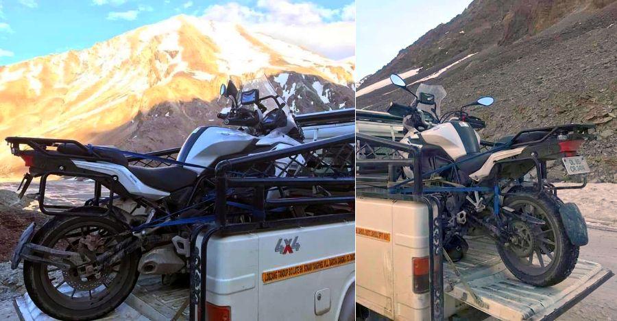 Superbike loses clutch & brakes during Ladakh ride