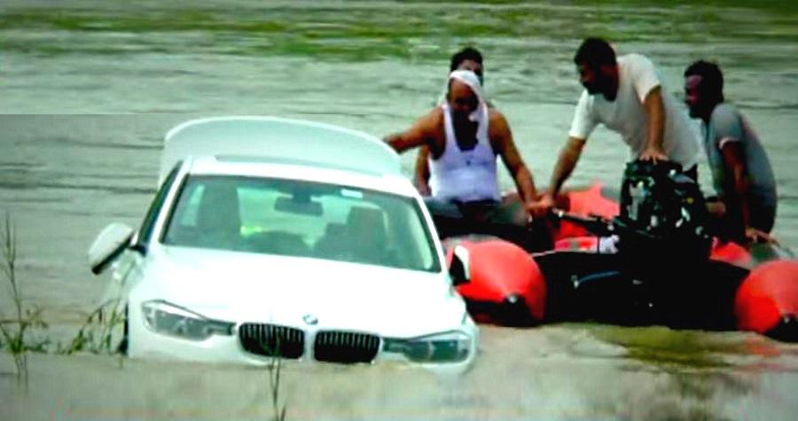Denied Jaguar, Haryana youth pushes BMW into river