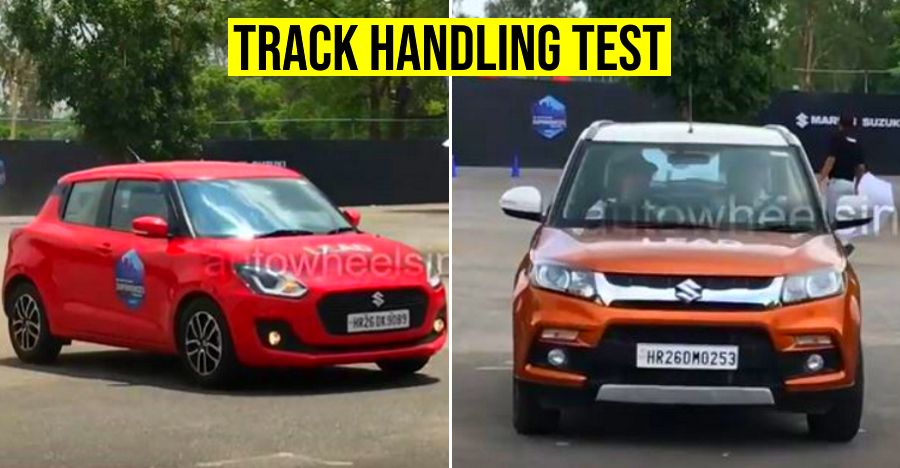 Maruti Swift vs Vitara Brezza on a track shows the BIG difference between a hatchback & SUV [Video]