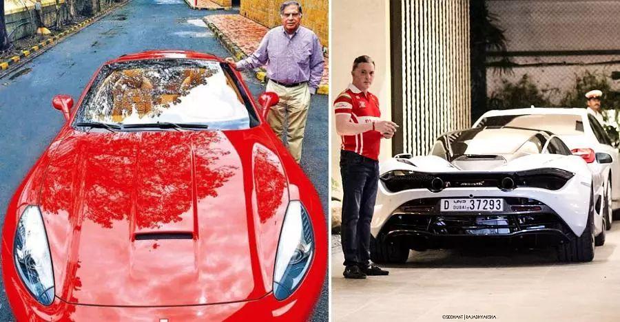Supercars of Indian business tycoons: Ratan Tata's Ferrari to Gautam Singhania's Mclaren