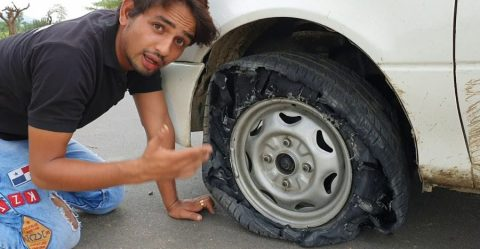 Car Tyre Puncture Featured