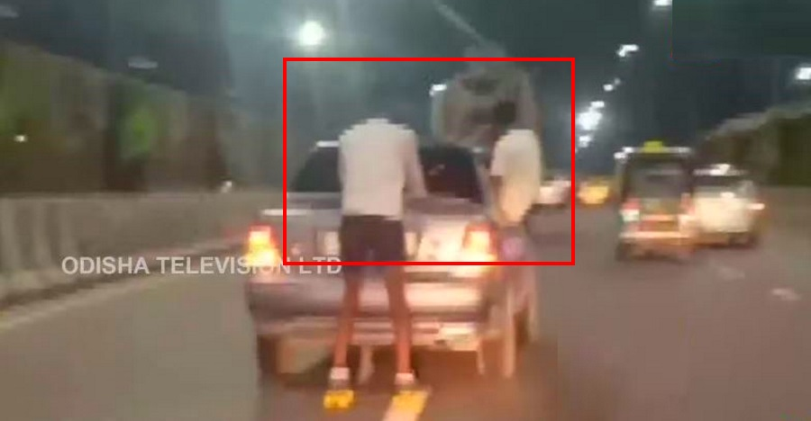 Two men stunt in a Maruti Esteem: Cops BUST them after video goes viral