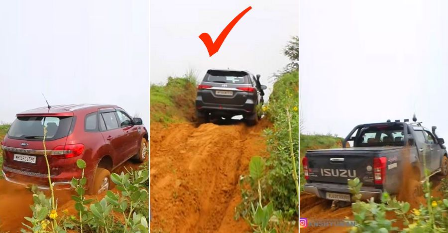 Toyota Fortuner shows Ford Endeavour & Isuzu V-Cross who's BOSS [Video]