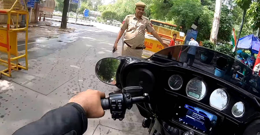 Cops stop Harley Davidson rider: Guess what's the reason for it [Video]