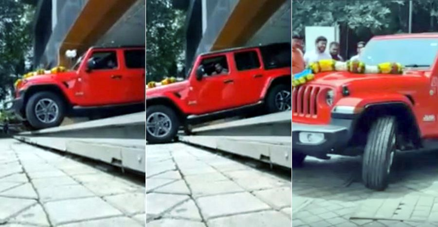 India's first new-gen Jeep Wrangler delivered: Watch SUV climbing down stairs [Video]