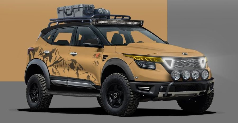 Kia Seltos looks like a real BADASS in this off-road spec render