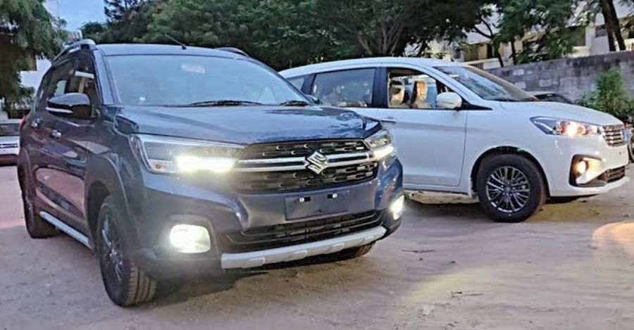 Maruti XL6 next to the Ertiga on video for the first time: Check it out