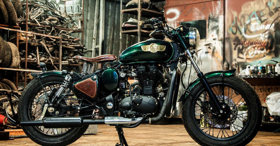 Meet the BERYL: Royal Enfield Classic 500 modified into an elegant Bobber
