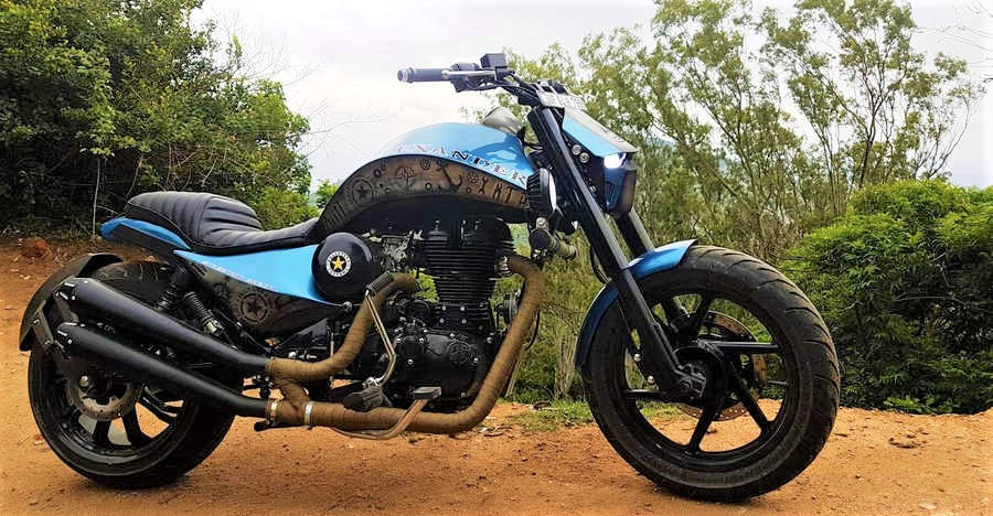 Alexander the Great: Royal Enfield Classic 500 modified into a Hot Street-rod bike