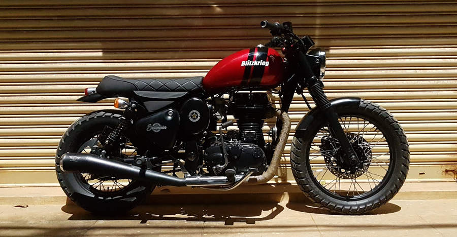 Meet the Blitzkrieg: Royal Enfield Classic modified into a BEAUTIFUL Bobber