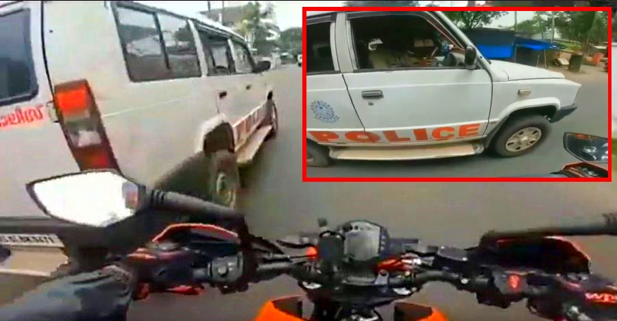 Biker chases & STOPS cops for driving without seatbelts [Video]