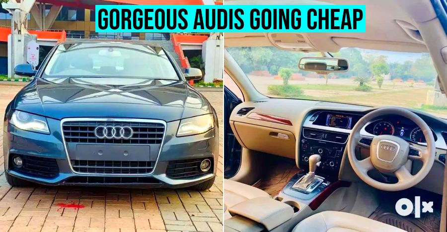 Well-maintained, 2000cc 150+ Bhp used Audi A4 luxury sedans available for less than Rs 10 lakhs
