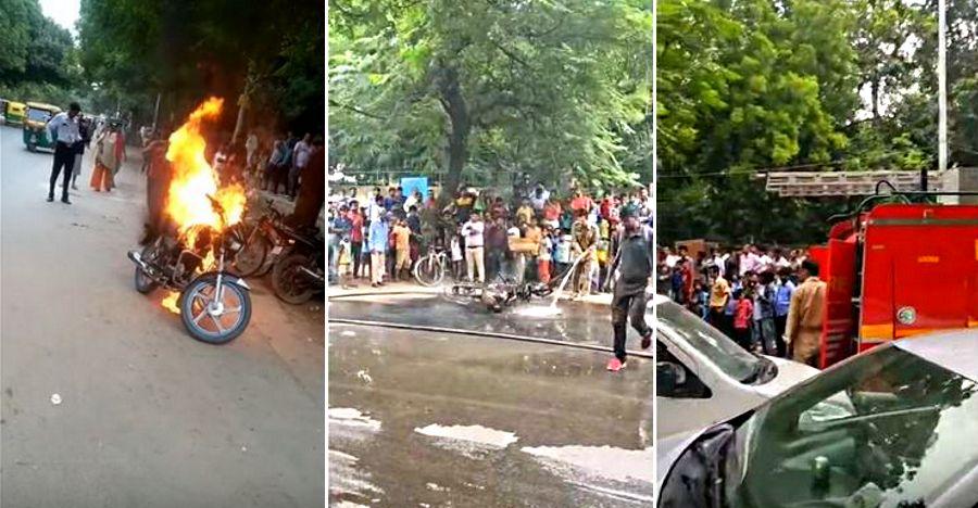 Bike Fire Delhi Challan Featured