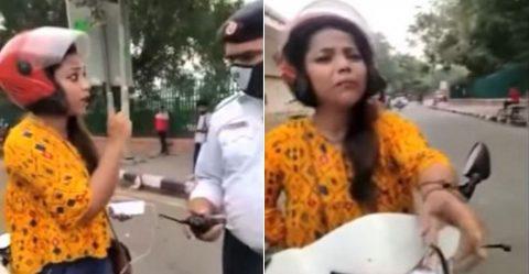 Helmet Woman Delhi Police Featured