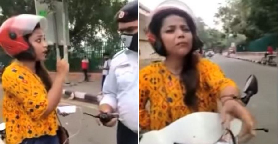 Helmet Woman Delhi Police Featured