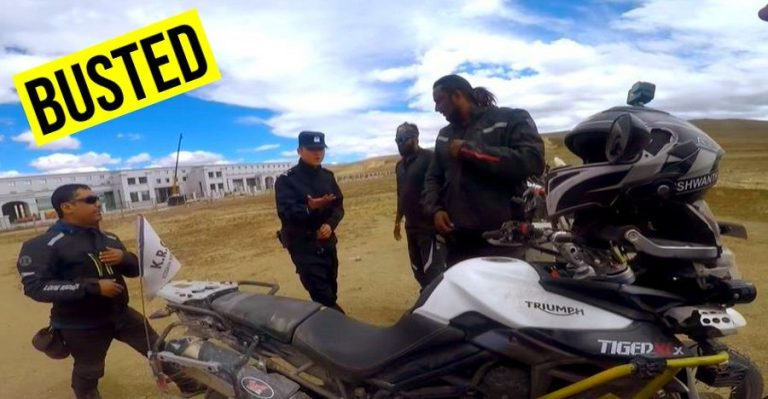 Indian Bikers Busted China Featured