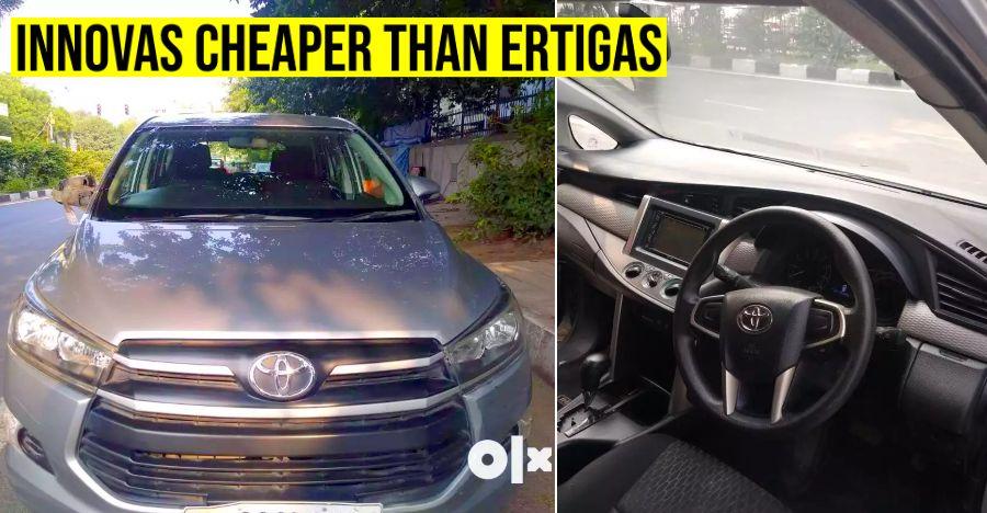 5 well kept used Toyota Innova Crysta MPVs CHEAPER than a new Maruti Ertiga