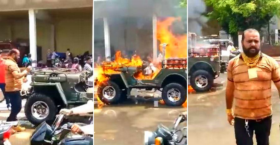 Jeep Fire Tiktok Gujarat Featured
