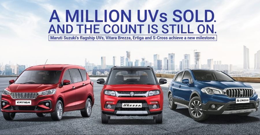 Maruti Suzuki Sells a Million Utility Vehicles in India: Ertiga, Vitara Brezza & S-Cross